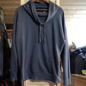 Dark Heatherish Gray Cowl Neck sweatshirt